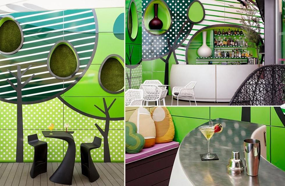 Vondom arreda l 39 indigo hotel di madrid - Giardino verticale madrid ...