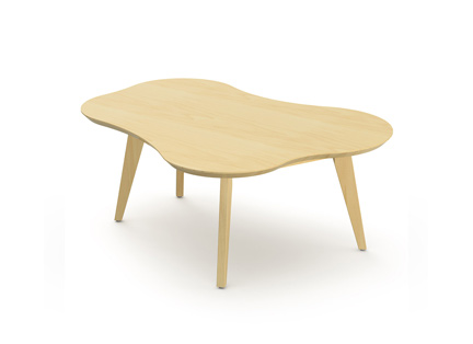Risom Amoeba Shaped Coffee Table