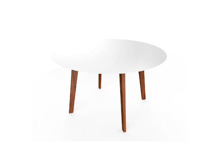 Slim wood collection table