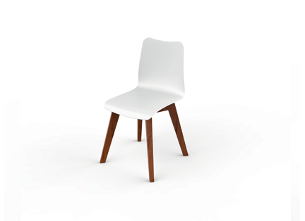 Slim wood collection chair