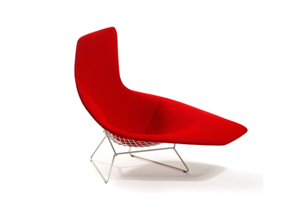 Harry Bertoia collection asymmetric armchair